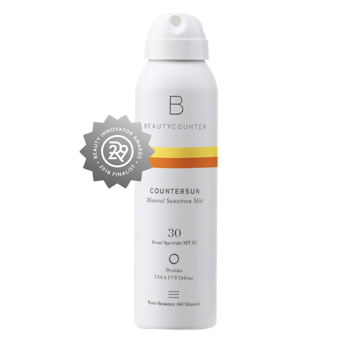 BEAUTYCOUNTERCountersun Mineral Sunscreen Mist SPF 30 - This best-selling, award-winning, water-resistant, never streaky mineral sunscreen mist also comes in a travel size and TINTED version.