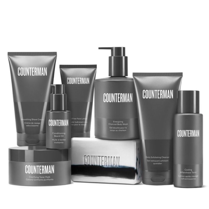 BEAUTYCOUNTER Counterman - Safer skin care is as important for men as it is for women. Enter Counterman, a line of cleaner, results-driven skin care formulated to address the unique needs of men's skin and facial hair.You can purchase each of the 8 products separately or save 10% when you purchase one of the 3 collections:1. Shaving Regimen (4 products)2. Beard Regimen (4 products)3. Counterman Collection (all 8 products)Individual Products:1. Daily Exfoliating Cleanser2. Clarifying Toner Pads3. Oil-Free Face Lotion4. Smoothing Shave Cream5. Cooling Aftershave Tonic6. Conditioning Beard Oil7. Energizing Charcoal Body Wash8. Charcoal Body BarShop RISK FREE! Return anything with no questions asked within 60 days. You even get return shipping free!SUBSCRIBE to my newsletter and get a $15 Gift Certificate for Beautycounter products.
