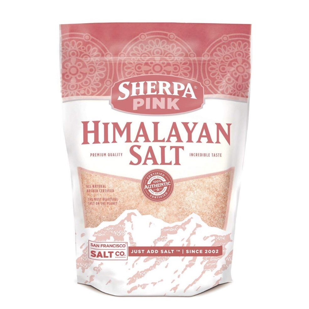 SHERPA PINK Himalayan Salt - Sherpa Pink Himalayan Salt comes in three grain sizes:- Coarse, if you want to grind it yourself- Fine, which is great for cooking, and- Extra fine, perfect for salt shakers