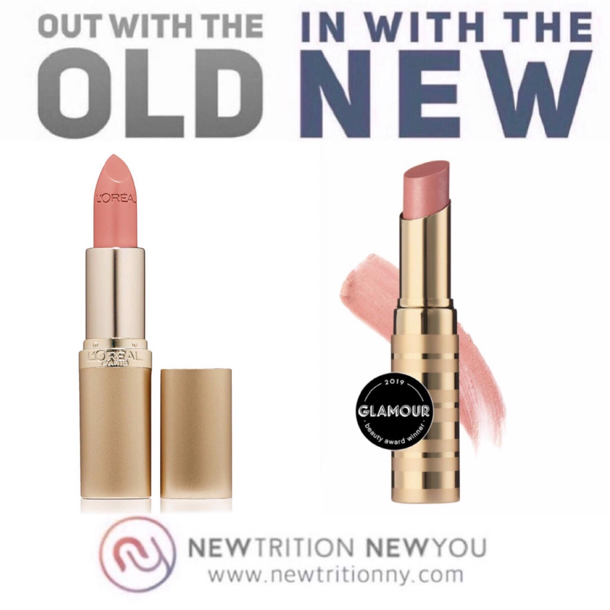L'Oreal Colour Riche Lipstick in Fairest Nude vs. Beautycounter Lip Sheer in Petal