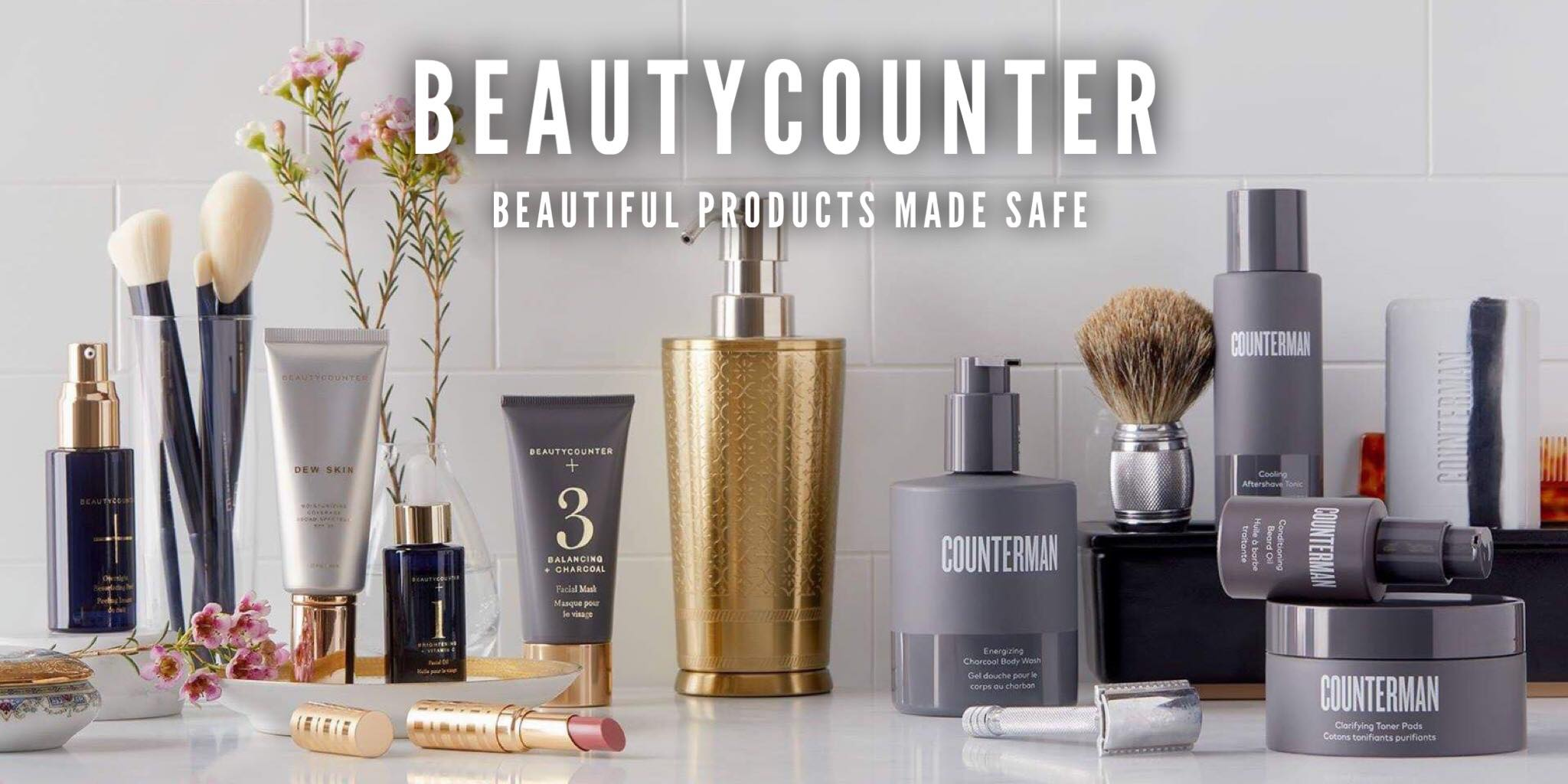 """Beautycounter is my favorite brand of safer products. Not only are their products safer and just as high performing as any luxury brand you've ever tried, but the company lobbies Washington for more legislation to ensure that no companies use ingredients that put our and our children's health in danger. Win-win-win!  I don't love all of their products, but there are many that I can't live without.  Their  Countertime """"Retinatural"""" retinol-mimicking, anti-aging skincare  is hands down the best skincare I've ever used, and some of their cosmetics are simply gorgeous. My favorites (in this order) are the  Dew Tinted Moisturizer with SPF 20 ,  Brilliant Brow Gel ,  Illuminating Cream Highlighter in Bronze  (it's basically contouring for dummies), their  lipsticks  and  lip gloss  is amazing, and I love the highly pigmented powders ( bronzers ,  eye shadows ,  blushes , and  luminous highlighters ) that have staying power unlike many of today's safer products.  Plus, it's a one-stop-shop. They also have a fabulous  safer men's line called Counterman , as well as safer products for  kids and babies !  Best part? They have a 60-day, no questions asked return policy, which means you can return anything if you don't love it."""
