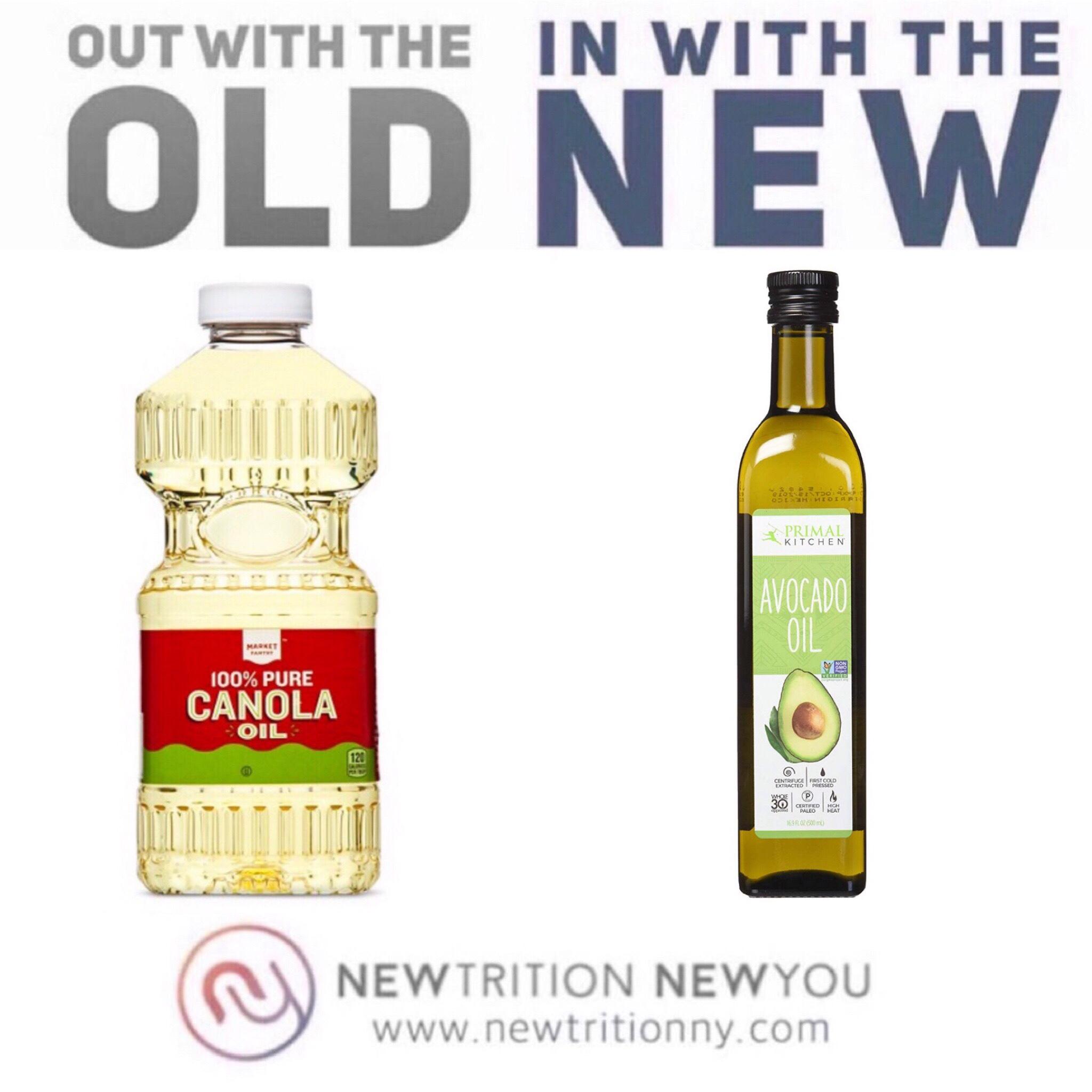 Clean Swap - Vegetable Oil Canola Oil to Avocado Oil