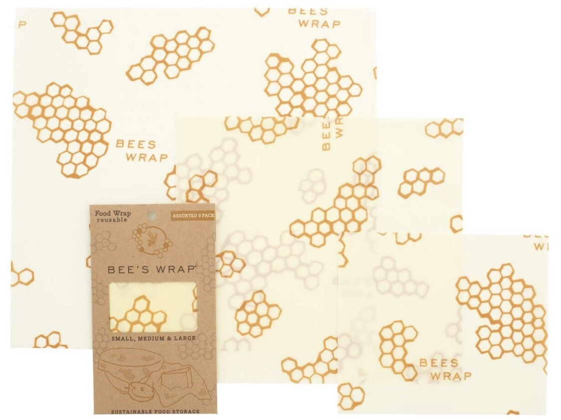 BEE'S WRAPEco Friendly Reusable Beeswax Food Wraps -