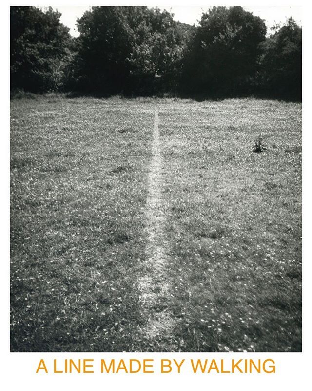 A Line Made By Walking, 1967. By Richard Long . . Paths, journeys, in every moment there is change, transformation, opportunity for renewal. I read that Richard long said, 'After it was made I realised it could be the beginning of a journey - a life line.' . . News: taking time out to reframe and rediscover I've been walking & working on a number of exciting projects that I really believe in, some jewellery and some more broadly design related. They are all about reaching out and creating opportunities, collaborating and supporting. . . Join me on this new journey, probably a somewhat more windy, spiral-like line! 🙌🏼 . . #inspiration #creativebusiness #creativeprojects #rediscovercreativity