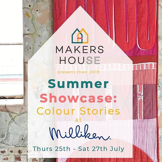 News: new collaborative event project. I've been beavering away (and there you were thinking I was on an indefinite holiday!) working with @georgiabosson on the @makers_house project. . . Having collaborated on the Christmas 2018 PopUp @millikeneurope we decided that sometimes two minds together can create something GREAT. The new website is live, and we're running a showcase with programmed talks and workshops to bring creatives, Clerkenwell locals and everyone in between to celebrate colour, design and making. I'm particularly excited about our round table discussion on 25th July 6.30-9pm, so often we are working in solos no matter what our discipline. I've learned so much on my recent journey about the value of sharing, support and connection, so much so I'm rediscovering my own creative projects after quite some time. Come along and share! (And have a glass of wine & make some anodised aluminium jewellery, all for a handsome £5) Link in bio 👆🏻