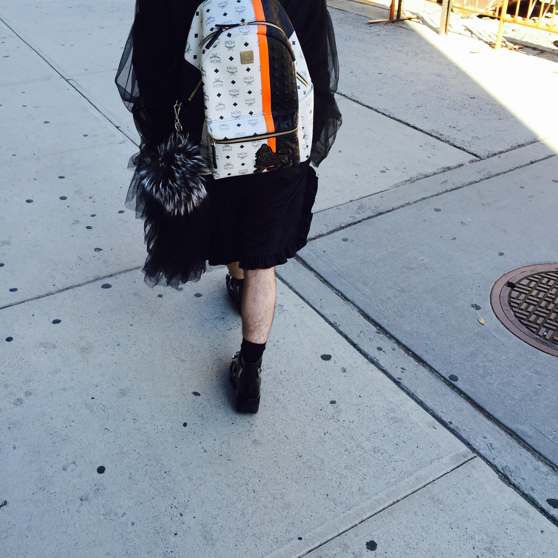 MCM backpack w/ Fendi fur charm