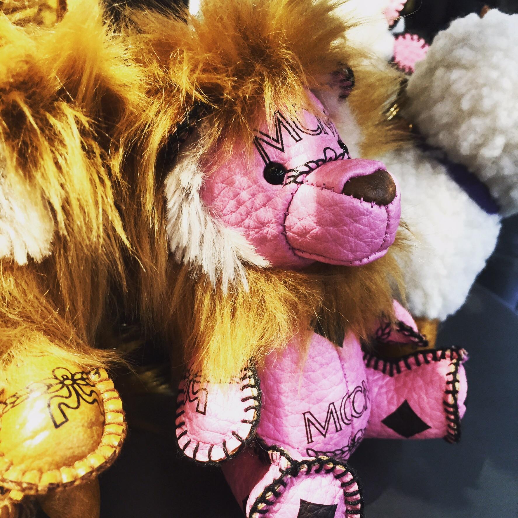 MCM lion bag charm