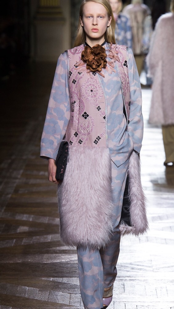 Faux fur and pastel