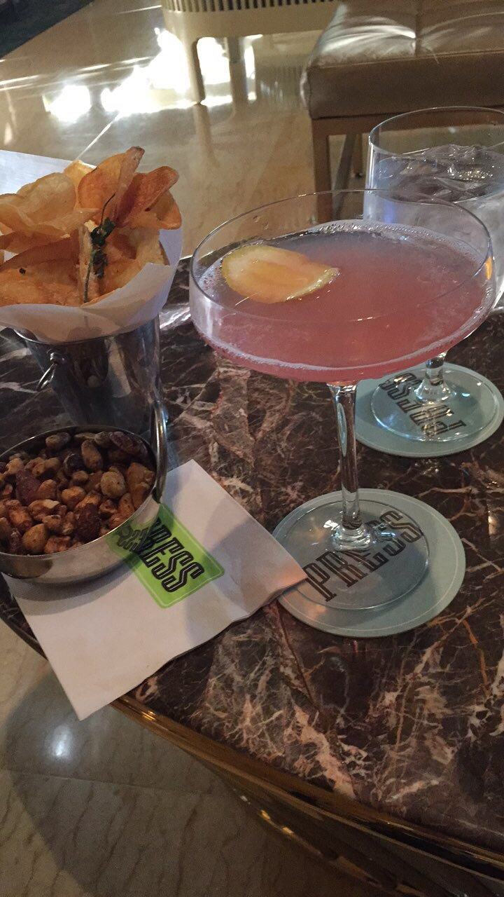 Yummy bar snack and cosmos