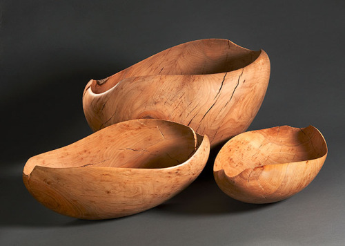"""""""So Close So Far"""" numbers 1, 2, and 3. Micro-sanded apple wood. 2014-2015."""