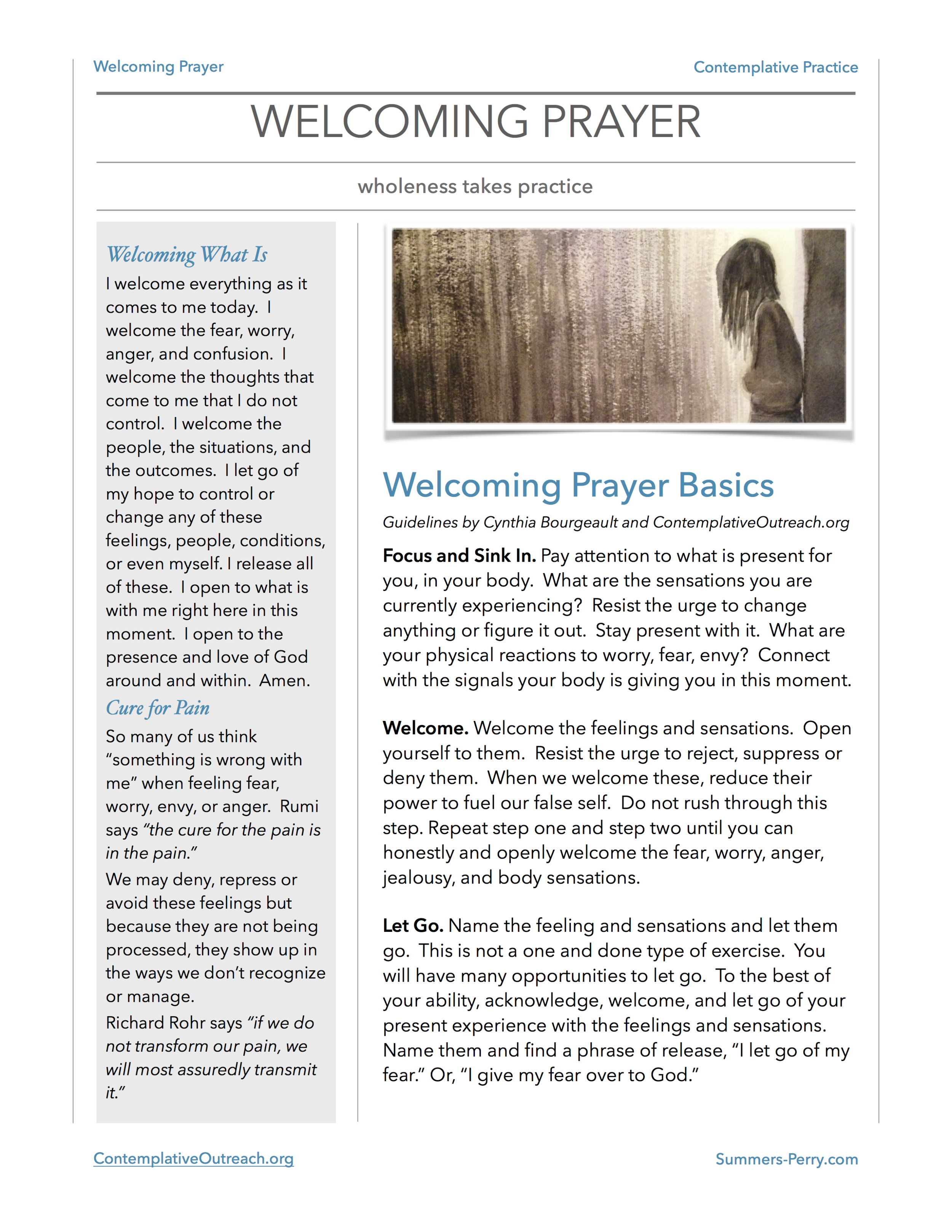 Welcoming Prayer