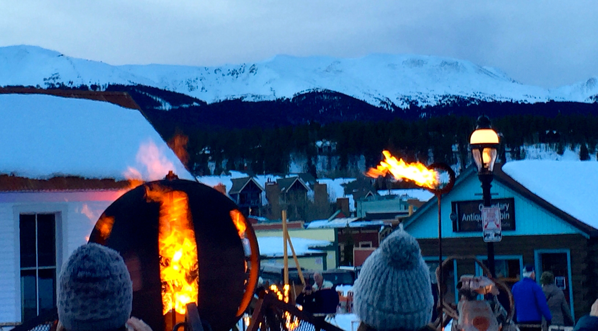 Super cool fire art in Breckenridge
