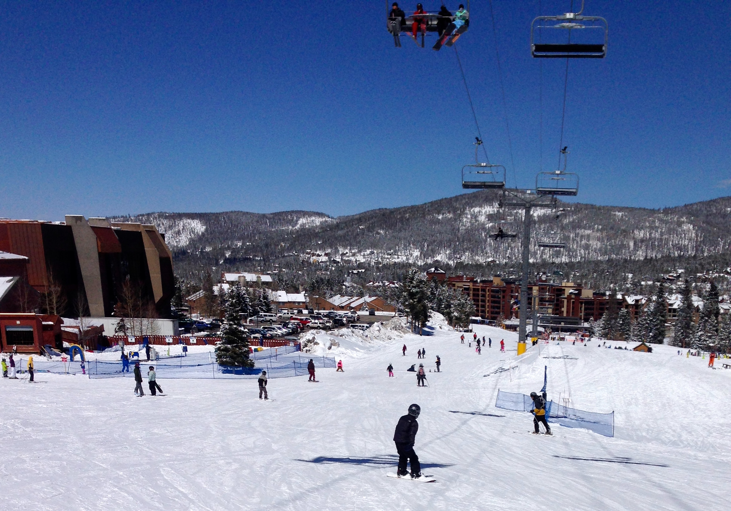 A beautiful spring day at Breckenridge Ski Resort