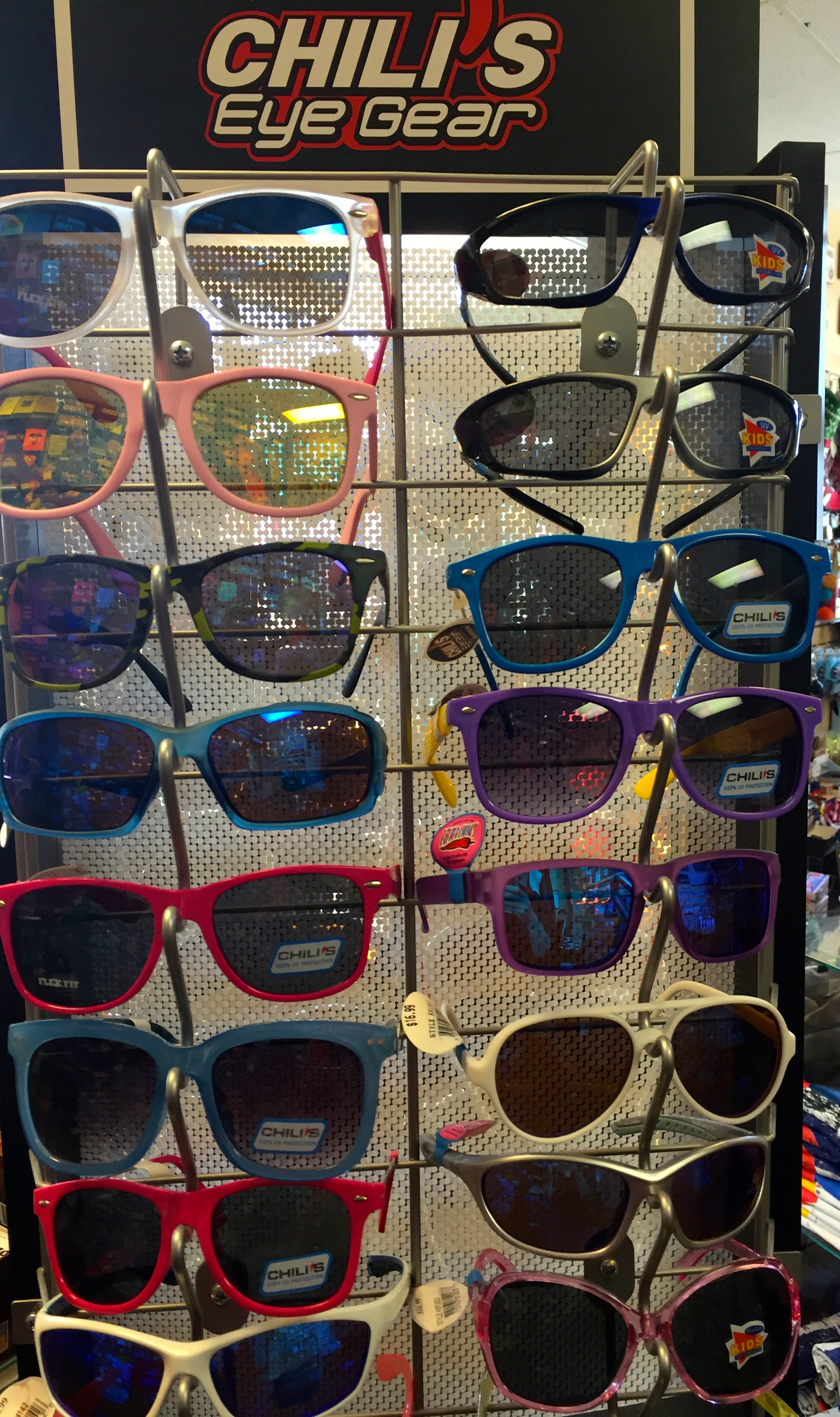 Don't forget the sunscreen and sunglasses! That sun is intense, especially when it's reflecting off the bright snow. Plenty of people do forget, which is why we always carry Colorado-made sunscreen, and a wide selection of Chili's eyewear for kids and adults.