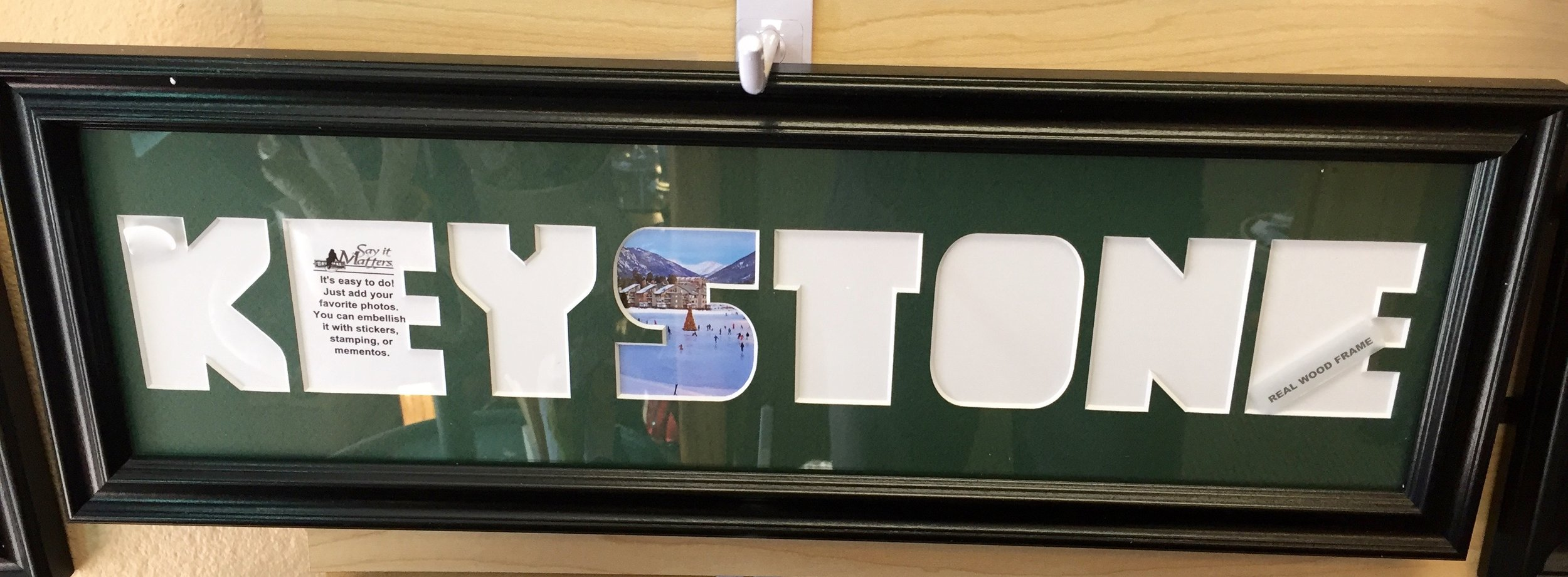 You can personalize this frame with your own Keystone memories!