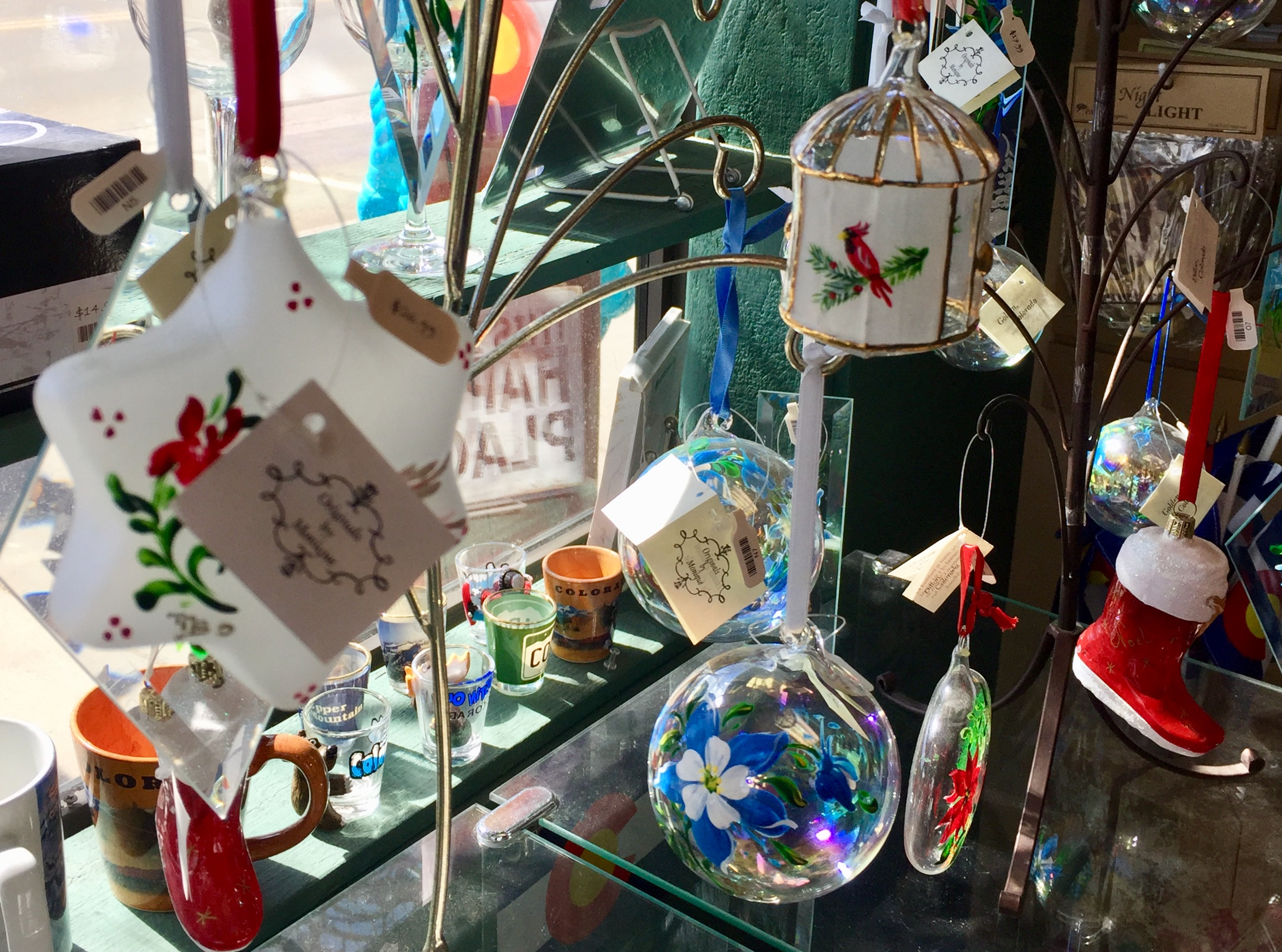 Each of these Originals by Monique ornaments are hand painted in Golden, Colorado.