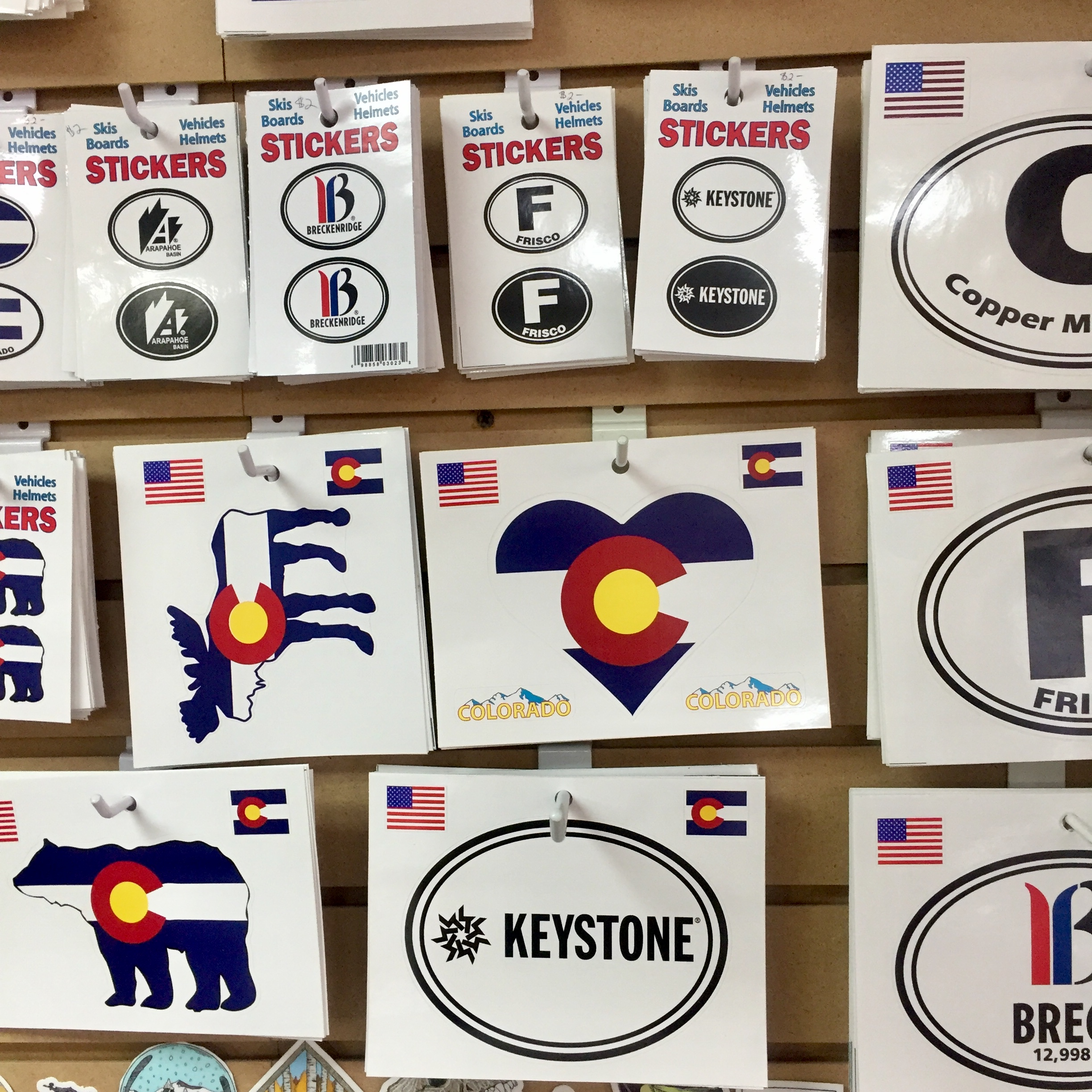 I am surrounded by stickers every day! These are from Snow Business, a local Summit County company.