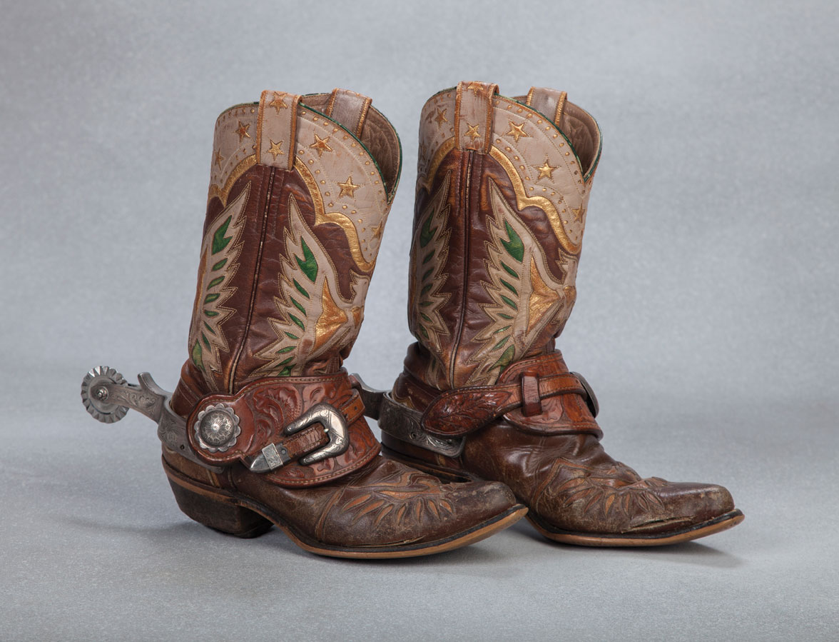 Roy Rogers' Eagle Boots and Bohlin Spurs