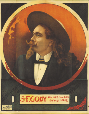 "S.F. Cody Lithograph Poster - ""King of the Cowboys"""