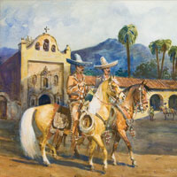 Edward Borein, Watercolor  Sold $80,500   2012 Old West Auction