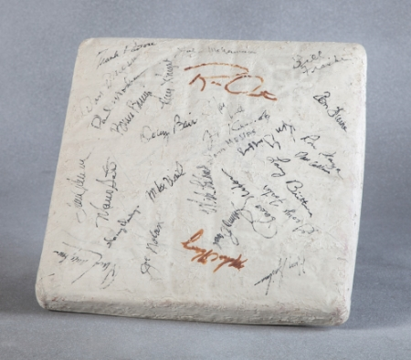 Autographed Cincinnati Reds Second Base - Presented to Roy Rogers