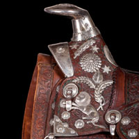 Dixie Thompson's Loomis Saddle (est. $60,000-80,000) Fort Worth Auction: June 6, 2015
