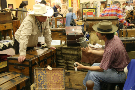 Old West Show Vendors Doing Their Thing...