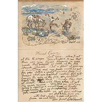 Charles Russell Illustrated Letter   Sold $126,500   2015   High Noon   Auction