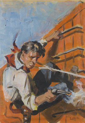 Untitled oil painting by Richard Lillis Pre-Auction Estimate $600-900