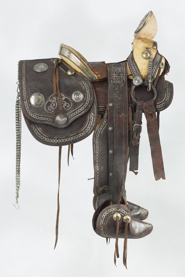 Lot 343 - 19th Century Mexican Officers Saddle Sold $4,235
