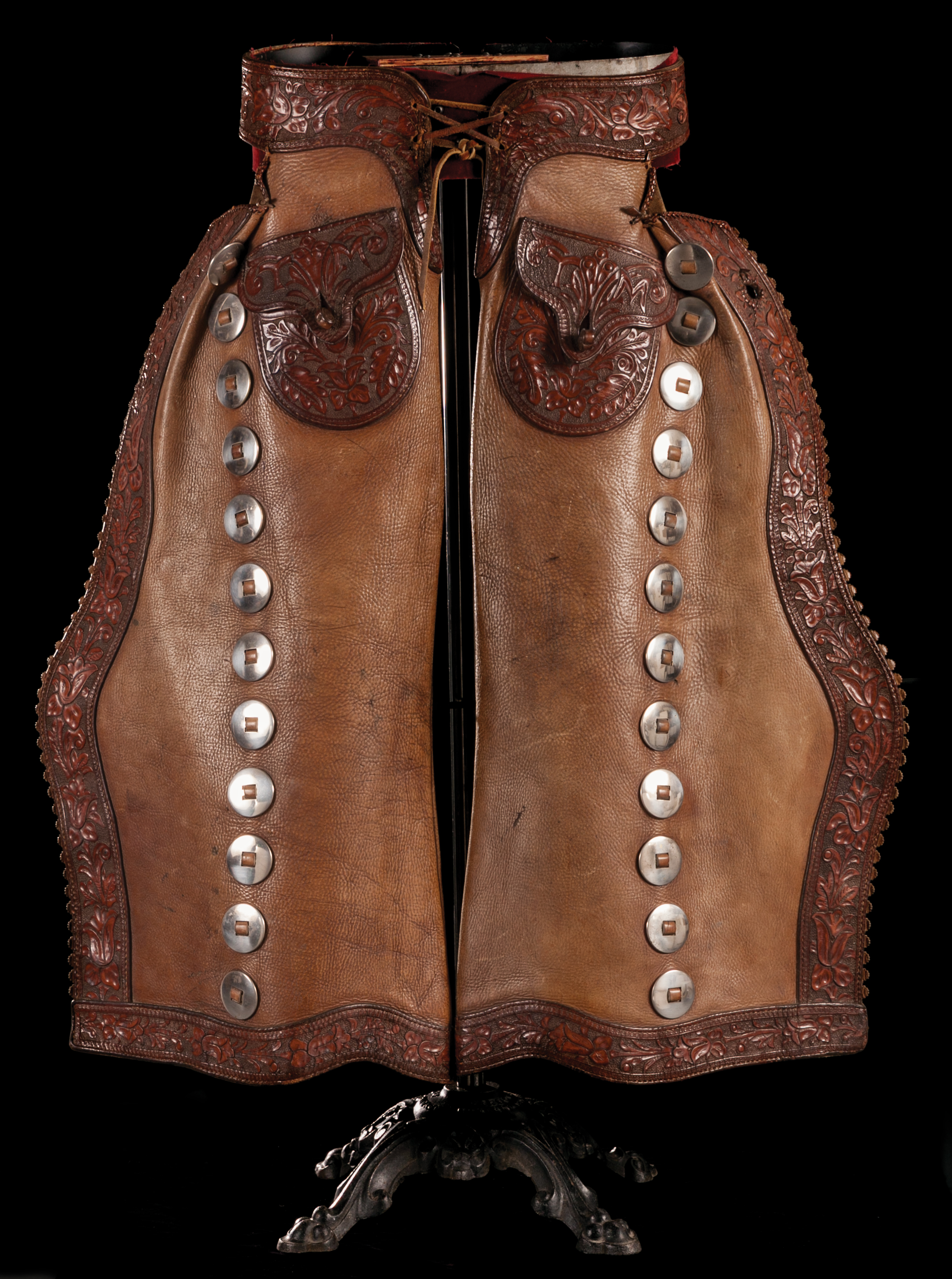 Lot 49: Tom Mix's Personal Batwing Chaps.   Brian Lebel's Mesa Auction - January 21, 2017 Sold $19,550