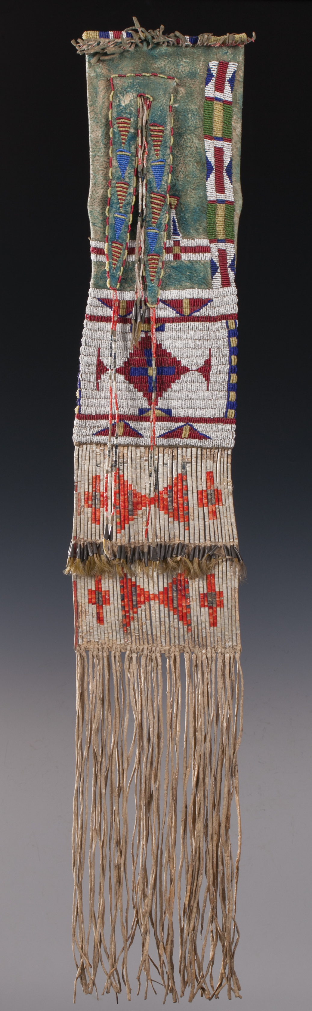 Lot 221: Plains / Sioux Pipe Bag.   Brian Lebel's Mesa Auction - January 21, 2017 Sold $7,080
