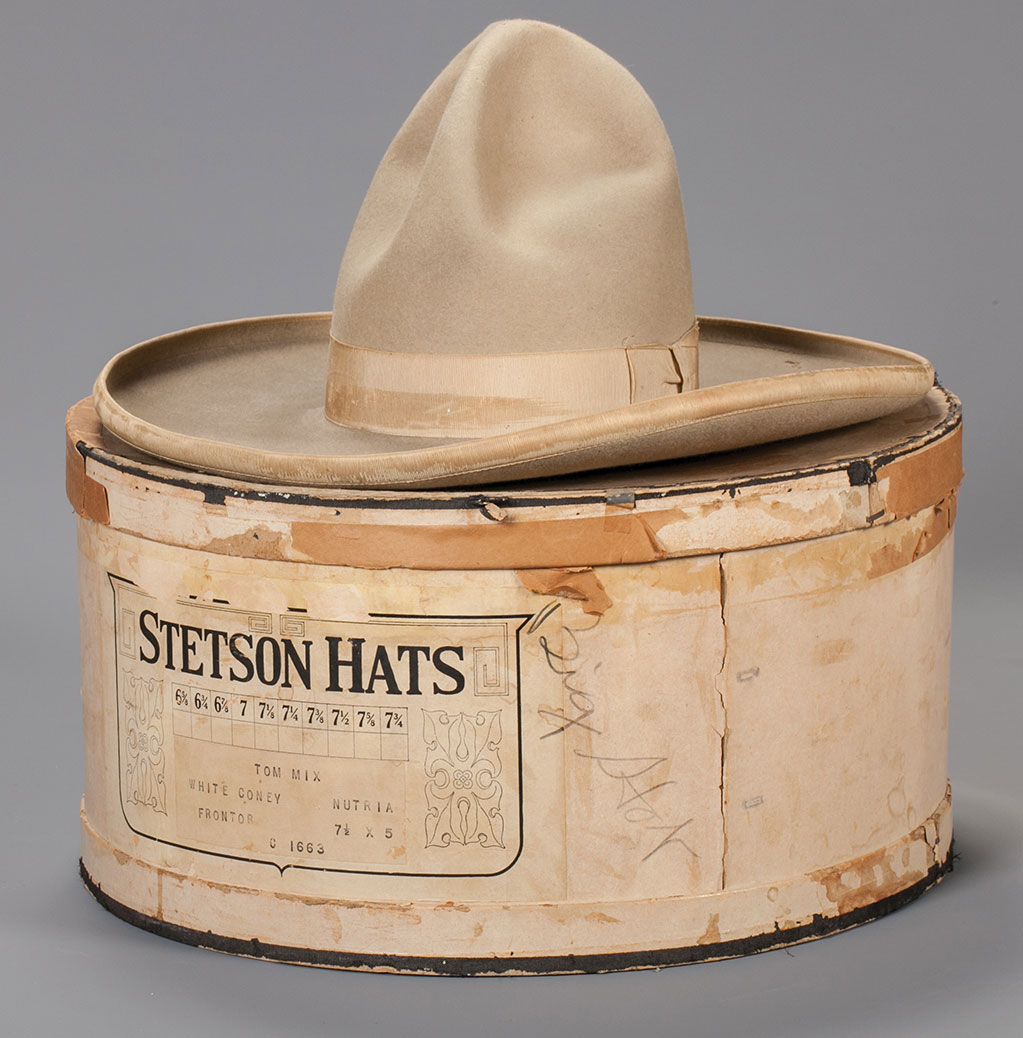 Tom Mix's personal Stetson hat with original box. Estimate $3,000-4,000.