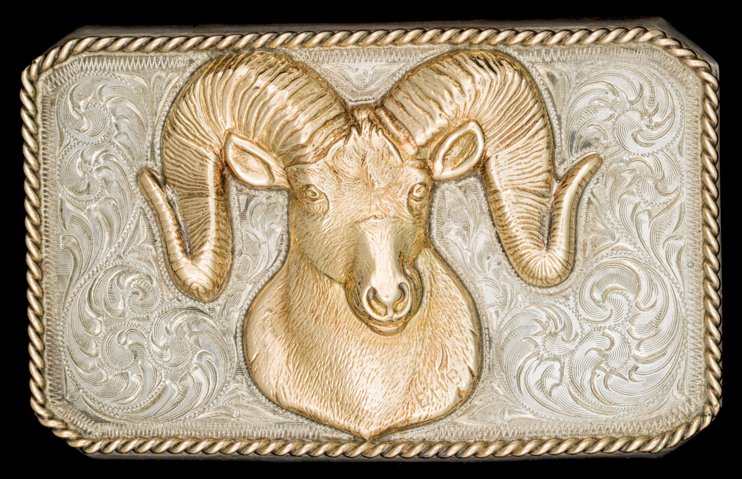 Lot 78: Edward H. Bohlin Bighorn Sheep Trophy Buckle, Sold $4,720 EX: Harry Hudson Collection.