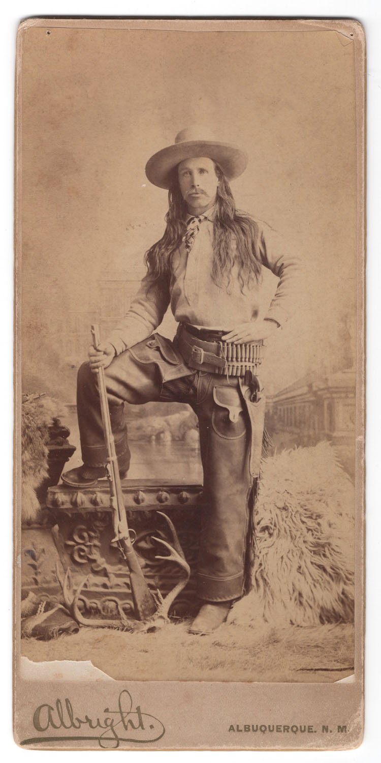 Commodore Perry Owens Cabinet Card - Lot 205
