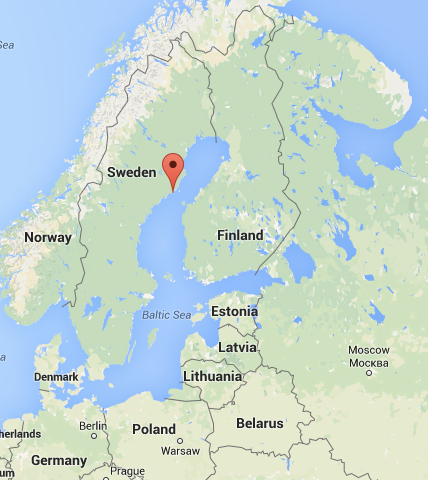 Location of Hi5 Dirt Jump Bike Park in Obbola Sweden designed by DirtSculpt Parks