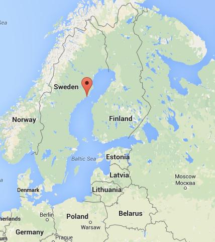 Location of Hi5 Dirt JumpBike Park in Obbola Sweden designed by DirtSculpt Parks