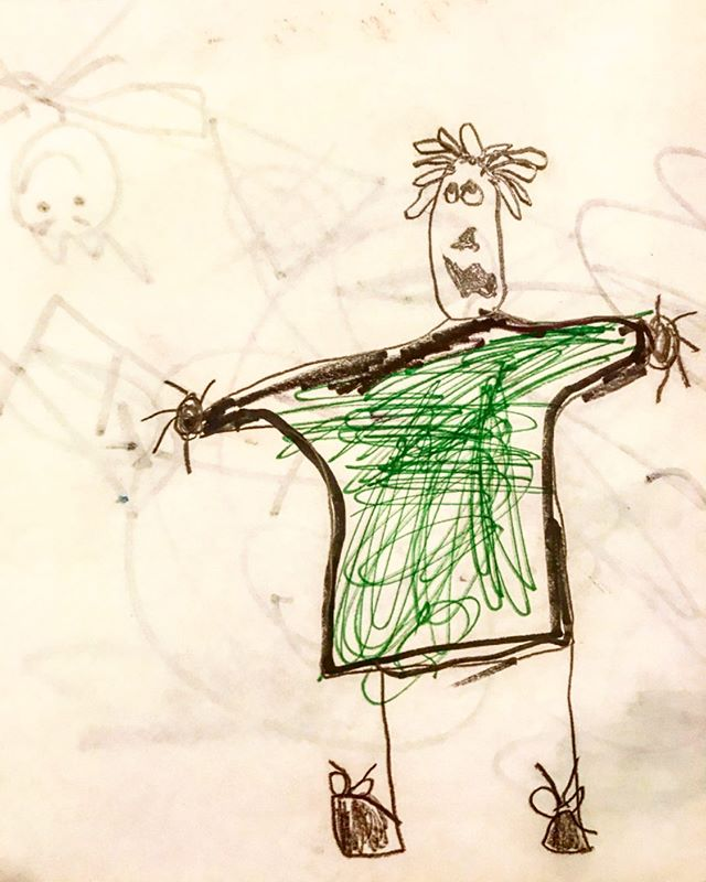 one of my favorite kindergartners at afterschool drew a portrait of me today 😍 this beauty is going on the fridge 😌😁
