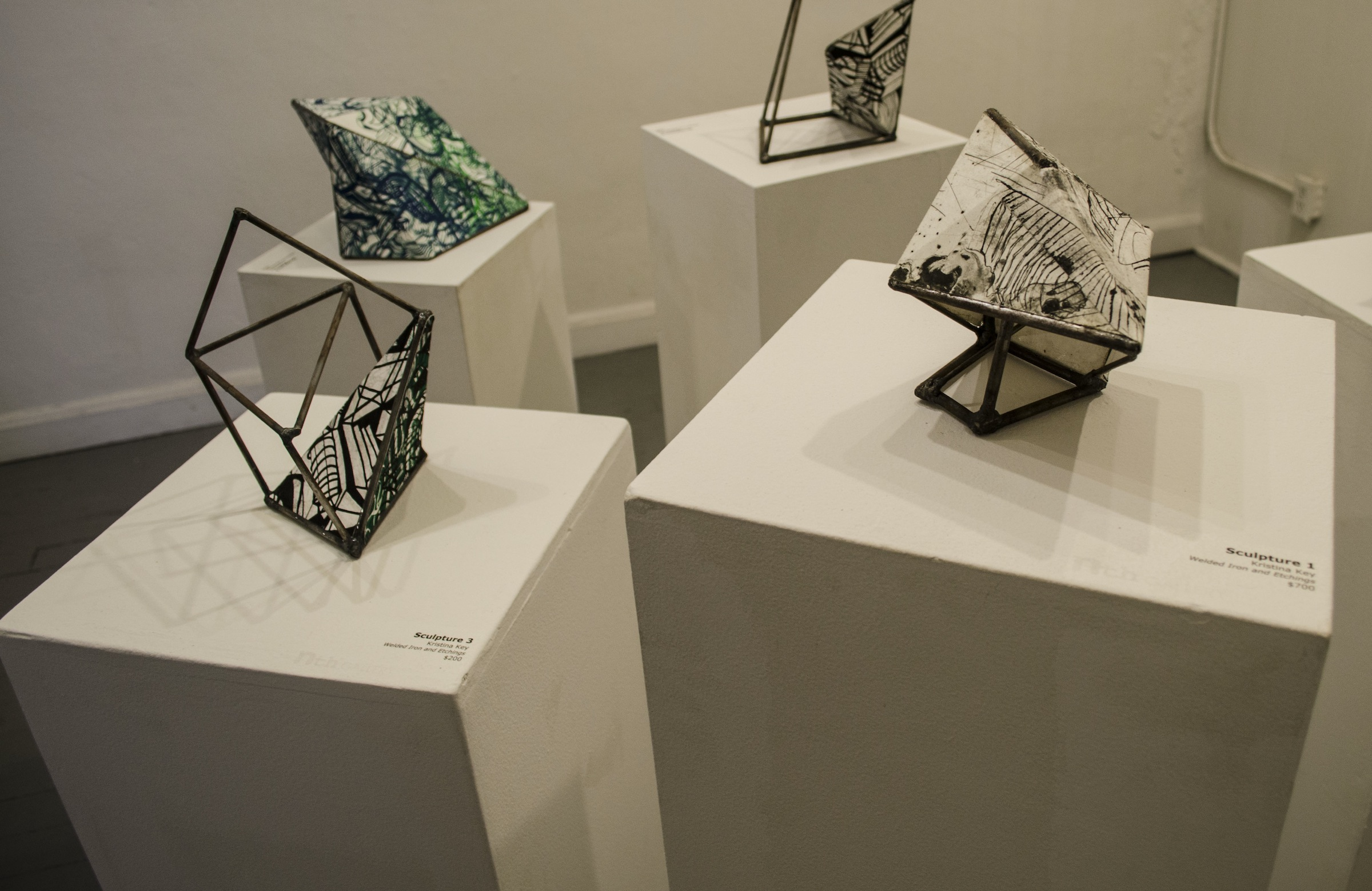 Welded iron-print sculptures