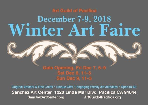 Save the dates!!! Come visit the Sanchez Art Center in the beginning of December for the Winter Art Faire! They'll be a plethora of handmade gifts for Christmas by local artists! Of course, we'll be there! #shoplocal #seaglass #seaglassjewelry #sanchezartcenter #pacifica #winterfaire2018 #artguildofpacifica #sanchezartstudio #pacificacalifornia