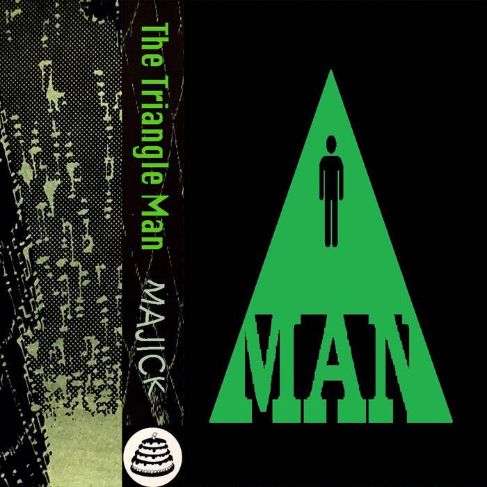 """TRIANGLE MAN - """"Majick""""  (Bad Cake Records)  Bizarre outsider folk artist Clinton Smith, dons the persona of Triangle Man to travel to other musical dimensions we mortals can only dream of. Using his geometric metaphysical powers, he asks the universe the tough questions in a wavering, antiquated voice, surrounded by swirling masses of haunting accompaniment.  Certainly the strength of Triangle Man, the source of his mighty power,is his ability to speak to a number of subjects in a variety of styles, from soul-searching numbers like the piano-laden  How Does the Spirit Know Where to Go When the Body Dies? , to the 7 minute ambient burner,  Majick Clouds , to even a brief track addressing dental hygiene,  The Toothbrush Song . Triangle Man blends the spiritual and the mundane, the transcendent with the ordinary.  Overall,  Majick  is a slow, thoughtful piece that travels along enlightened pathways to higher levels of being, while rooting itself in earthly, mortal means of expression.      thetrianglemanmusic.bandcamp.com/album/majick"""