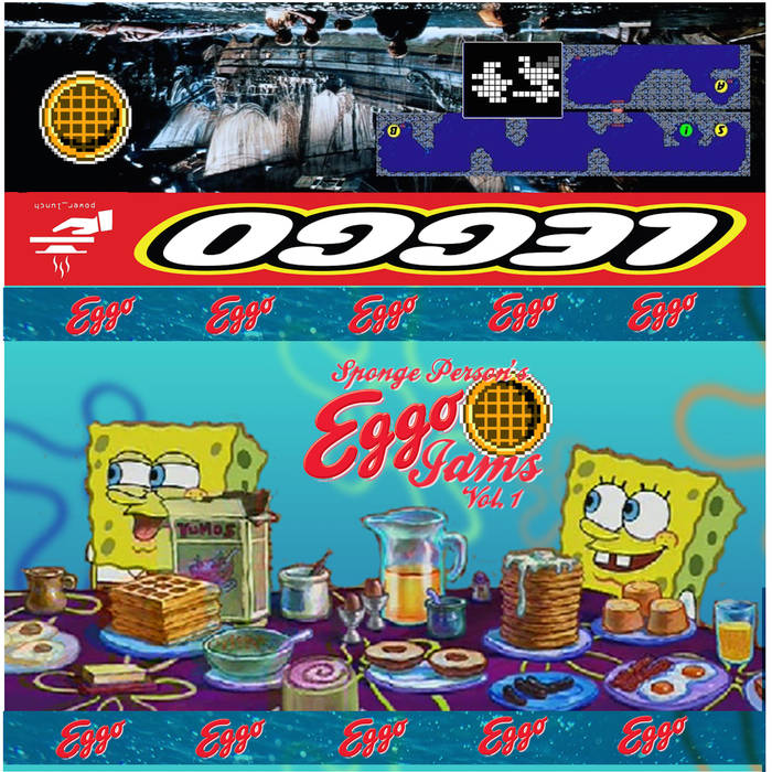 """SPONGE PERSON - """"Eggo jams""""  Is this pre-vaporwave or post-vaporwave? Either way, there certainly are quite a lot of vapors emanating from Eggo Jams, the thought-imploding introduction of what sound experts are referring to as """"waffle-wave.""""  This is another batch of slowed down, chopped, and skewed oddities straight off the waffle iron - with no shortage of pop culture carnage and wildly careening consumerism. Sponge Person, who may or may not be represented without any kind of permissions by a certain famous cartoon character, is up to some sneaky audio hijinx in this latest release. Never before have vintage beats, cartoons, or breakfast foods been so readily sourced for immediate entertainment value. Perfect for lounging on the patio on a lazy weekend morning, you'll be reaching for the butter and syrup at the speed of starfish.  At time of publication, these tapes were flying right out of the toaster - so, if you wanted a physical release, you might want to hurry. The number of custom editions on this tape are unheard of! Soon, you could be experiencing a sponge-related phenomenon on your very own set of speakers.  powerlunch.bandcamp.com/album/eggo-jams"""