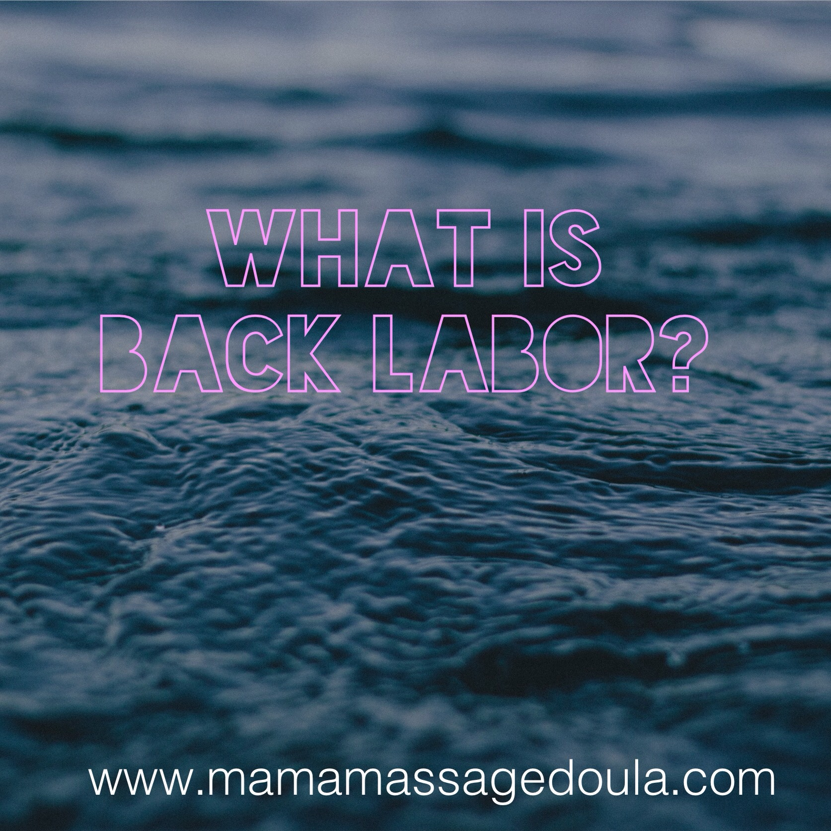 Spoiler alert: Being Submerged in Warm water is excellent relief from back labor
