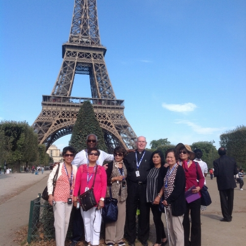 Group at the Eiffel Tower