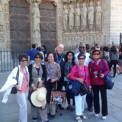 Group at Notre Dame Cathedral