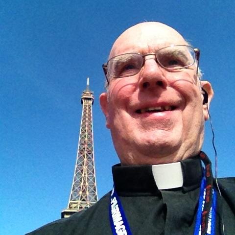 """Fr. Bill's first attempt evert at a """"Selfie"""""""
