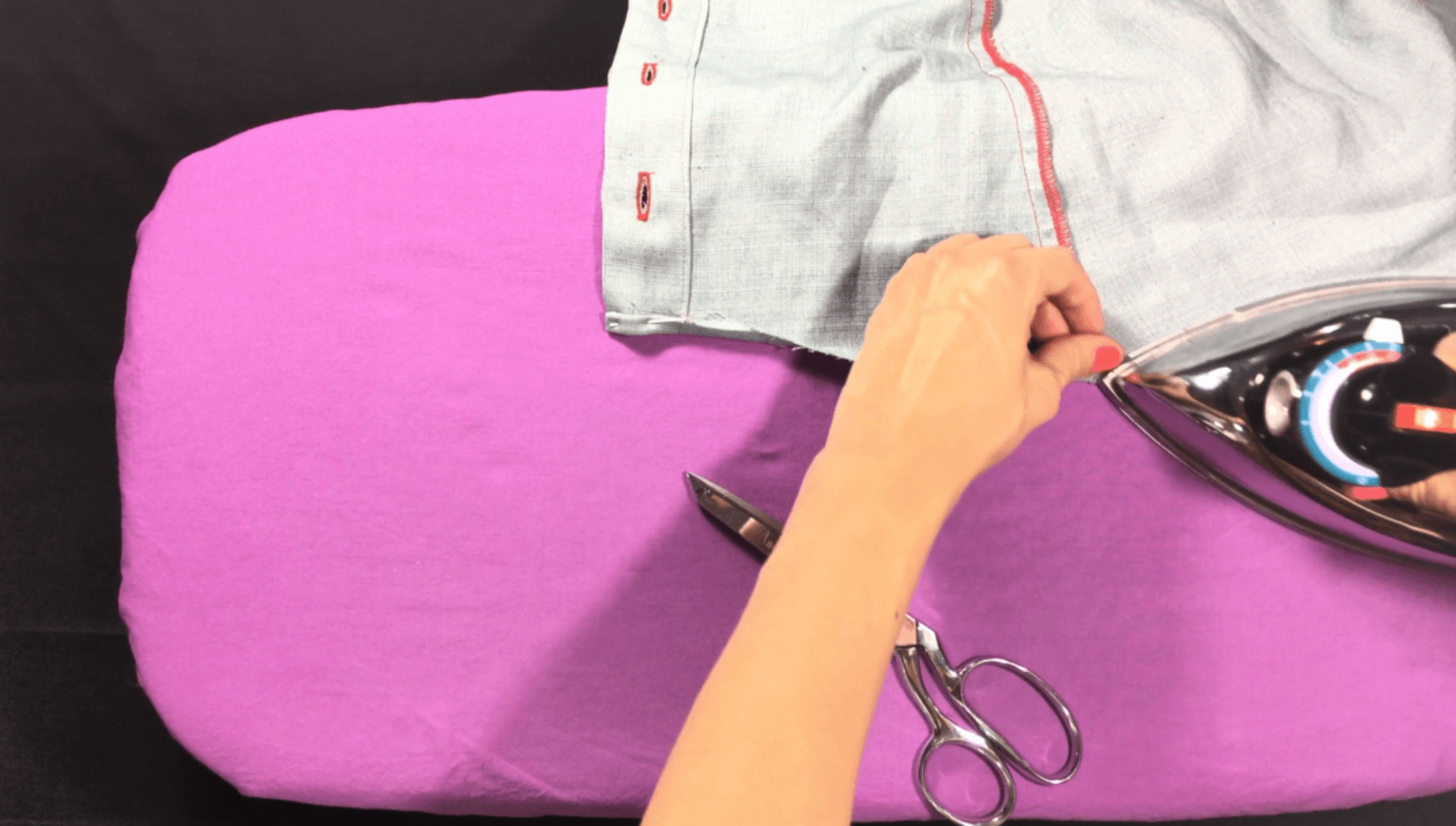 In today's video and written tutorial, I will teach you how to sew a curved shirt tail hem, here's a hint, its all in the hands :) Click through to watch and learn!