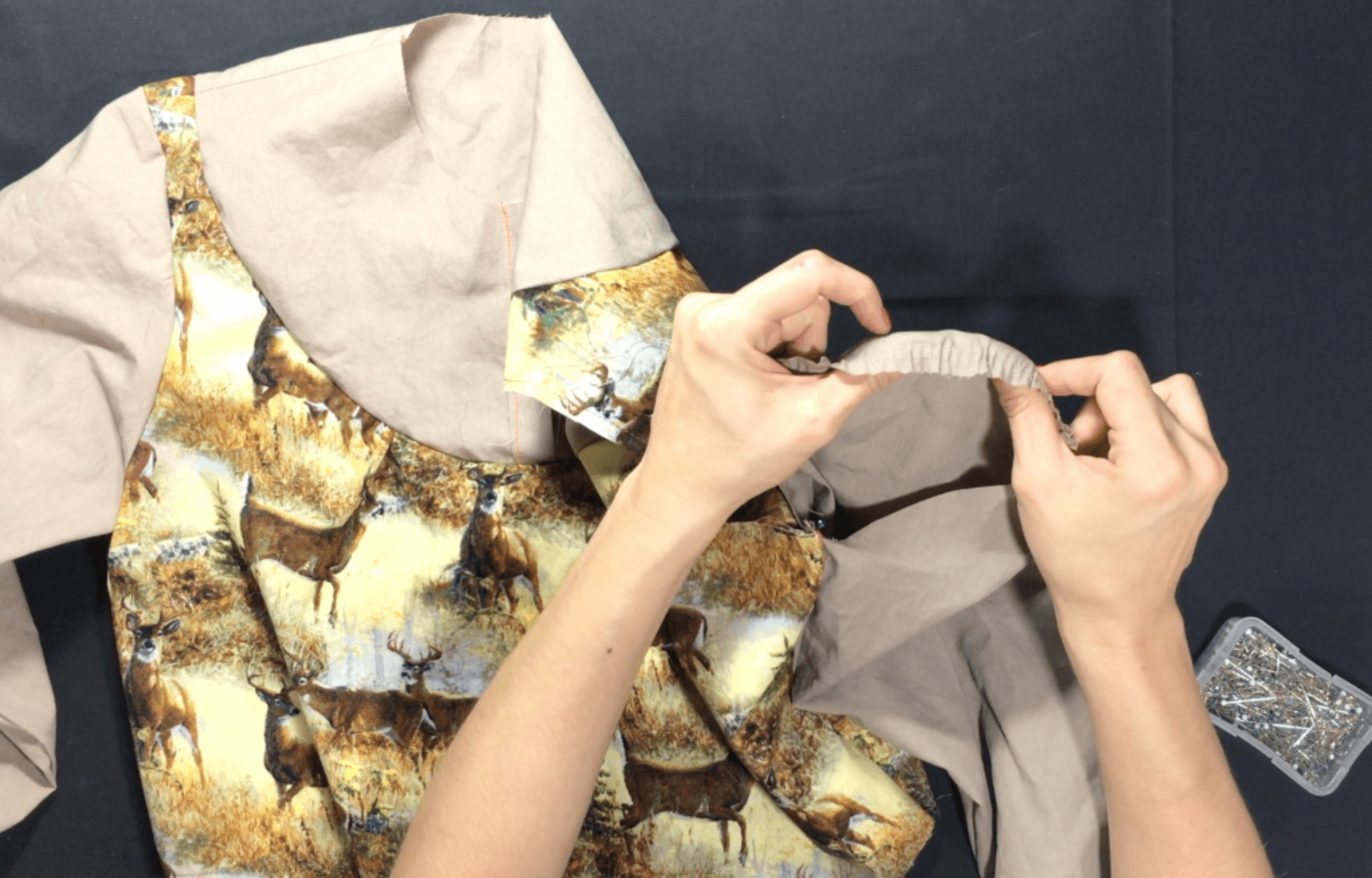 In this video and written tutorial, I walk you through how I set and sew my sleeves for tailored garments. Click through to watch and learn!