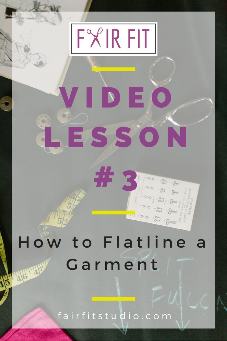 In today's video and written tutorial, I will teach you flatlining, a quick and easy way to line a difficult garment. Click through to watch and learn!