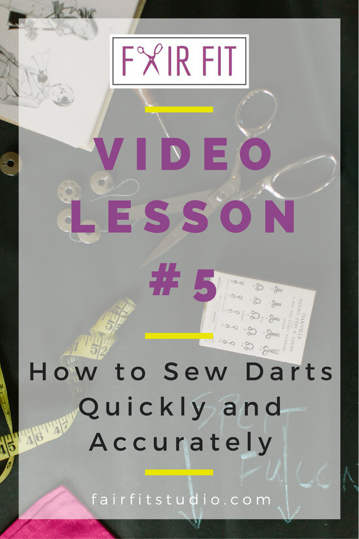 In today's video and written tutorial, I will teach you how I learned how to sew darts for production, quickly and accurately, without having to get out the tracing wheel and transfer paper. Click through to watch and learn!